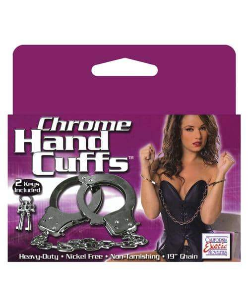 Chrome Hand Cuffs - California Exotic Novelties - Climactic Adventures
