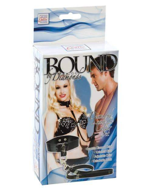 Bound By Diamonds Leash & Collar Set - California Exotic Novelties - Climactic Adventures