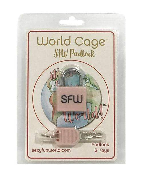 World Cage Sfw Padlock W-2 Keys - Yates Custom LLC - Climactic Adventures
