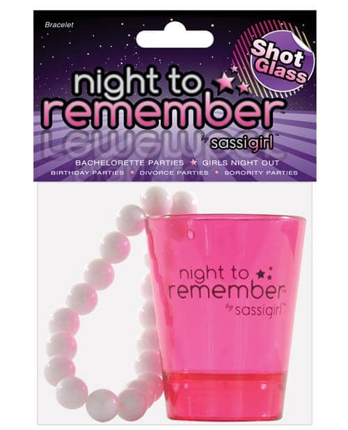 Night To Remember Shot Glass Bracelet By Sassigirl - Pink - Climactic Adventures