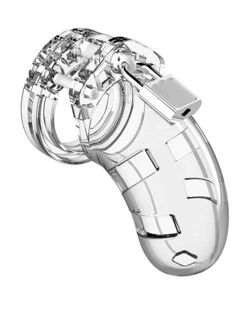 "Shots Man Cage Chastity 3.5"" Cock Cage Model 1 - Clear - Climactic Adventures"