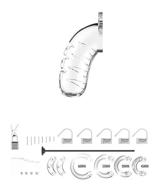 "Shots Man Cage 4.5"" W-silicone Urethral Sounding - Clear - Shots America LLC - Climactic Adventures"