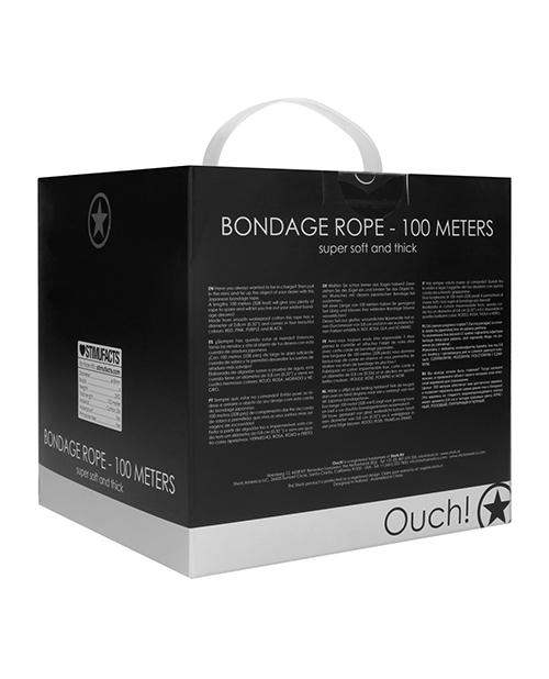 Shots Ouch Bondage Rope - 100 Mm Black - Shots America LLC - Climactic Adventures