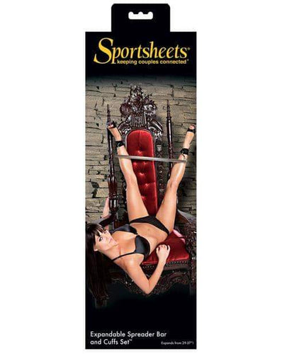 Sportsheets Expandable Spreader Bar & Cuffs Set - Sportsheets International - Climactic Adventures