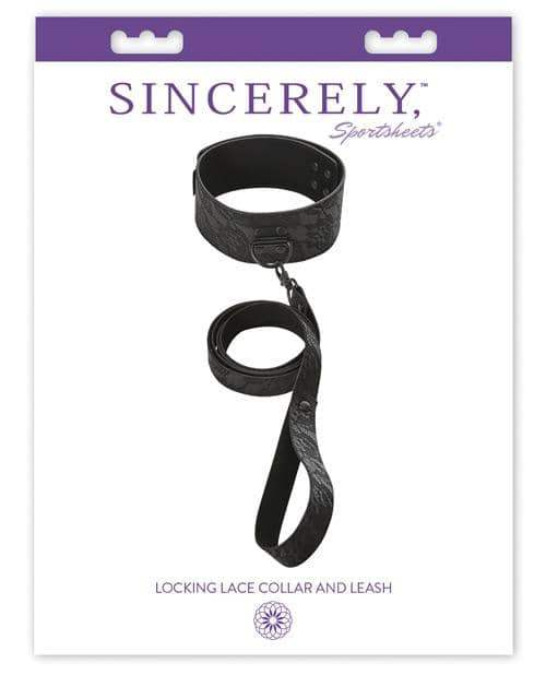 Sincerely Locking Lace Posture Collar & Leash - Sportsheets International - Climactic Adventures