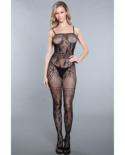 Multi Detail Pattern Crotchless Bodystocking Black Qn - Be Wicked INC - Climactic Adventures
