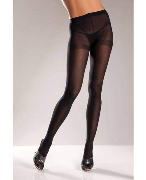 Opaque Nylon Pantyhose Black Qn - Be Wicked INC - Climactic Adventures