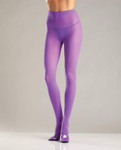 Opaque Nylon Pantyhose Purple O-s - Be Wicked INC - Climactic Adventures