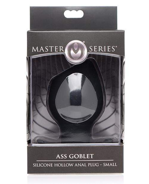 Master Series Ass Goblet Silicone Hollow Anal Plug Small - Black - Xr LLC - Climactic Adventures
