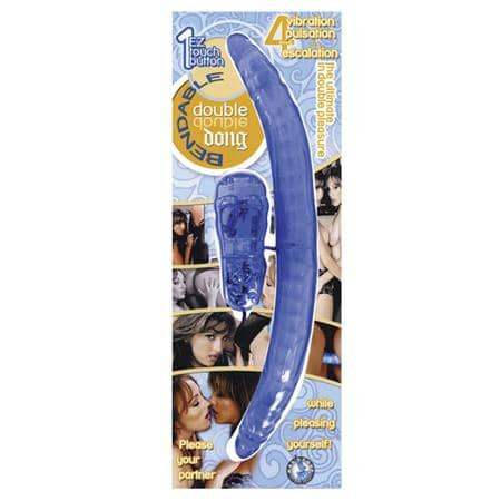 Bendable Vibrating Double Dong (Blue) - Novelties By Nasswalk - Climactic Adventures