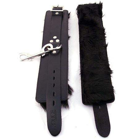 Rouge Wrist Cuffs, Fur Black - Rouge Garments LTD. - Climactic Adventures
