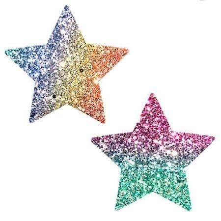 Neva Nude Pasty Starry Nights Glitter Multicolor - Neva Nude - Climactic Adventures