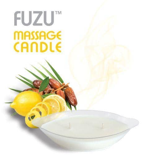 Fuzu Massage Candle Fiji Dates & Lemon Peel 4oz - Doctor Love - Climactic Adventures