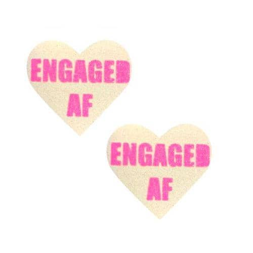 Neva Nude Pasty Engaged Heart UV Neon Pink - Neva Nude - Climactic Adventures