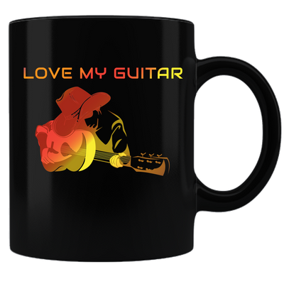 Love My Guitar-Orange -  Mug