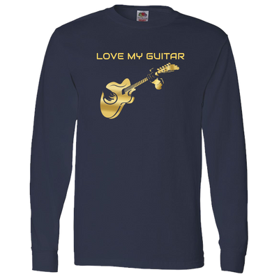 Love My Electric Guitar-Gold - Long Sleeve