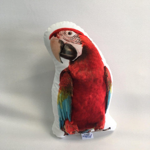 Red Parrot Pillow Toy