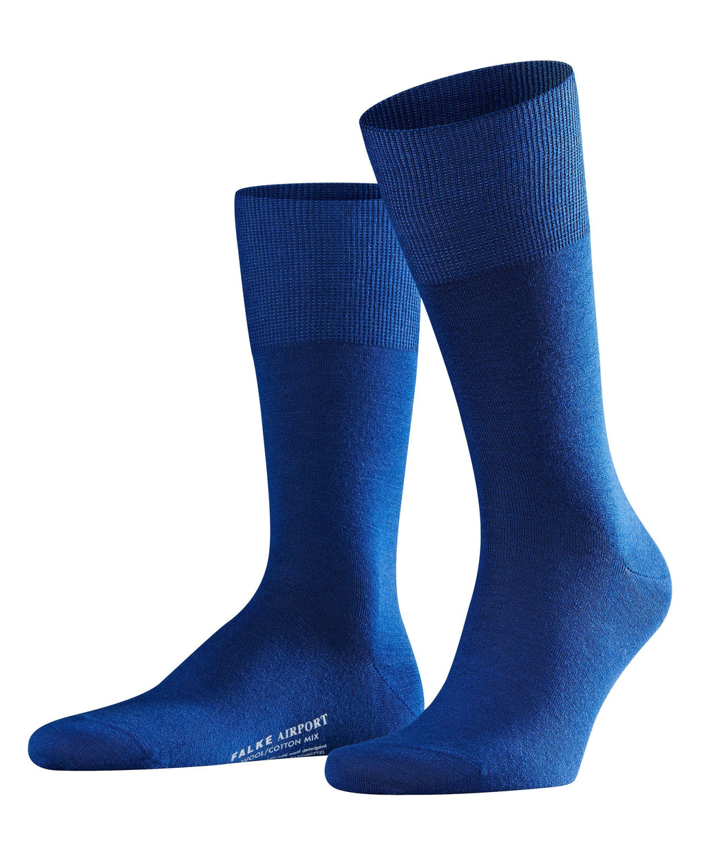 Sosete FALKE Airport royal blue - ISAYAA
