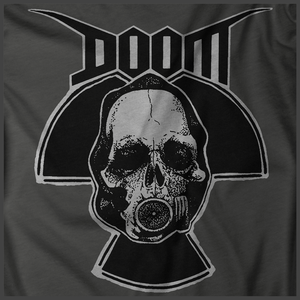 Doom: Radiation Skull Print Detail