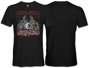 Civilised Society: Violence Sucks T-Shirt
