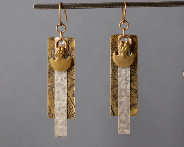 Diana Earrings - Mixed Metals