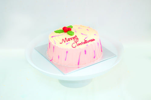 Christmas Ribbon Cake