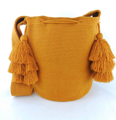 Large Handwoven Bag in Burnt Orange