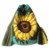 Handwoven Sunflower Bag