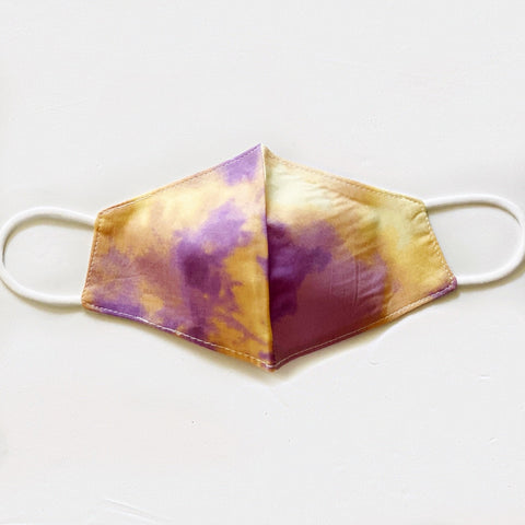 Kids Purple & Gold Tie Dye Mask