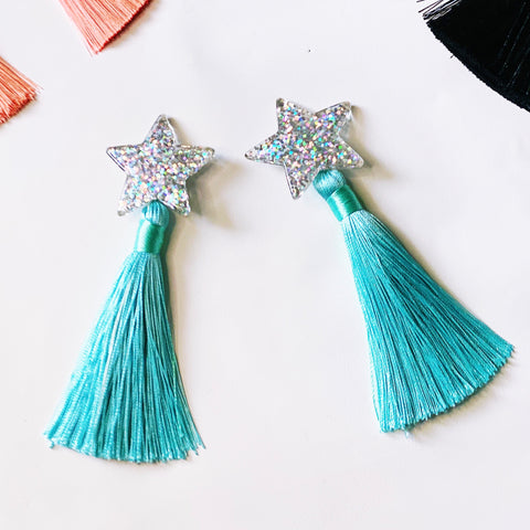 Starry Earrings Iridescent Turquoise