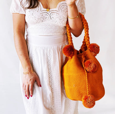 Large Burnt Orange Bag