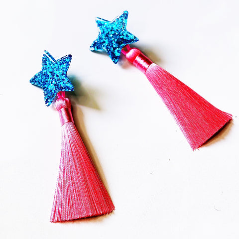 Starry Earrings (Cotton Candy)
