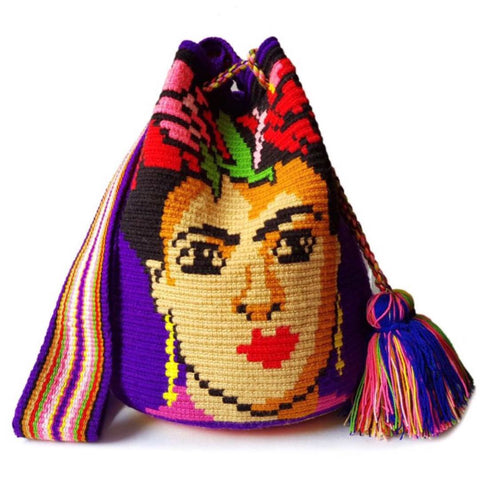 Frida Khalo Handwoven Bag