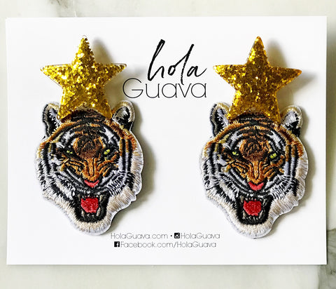 Tiger Earrings with Star