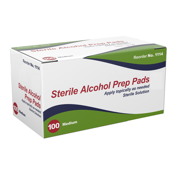 Alcohol Wipe Prep Pads, 70% Isopropyl Alcohol, 200/Box
