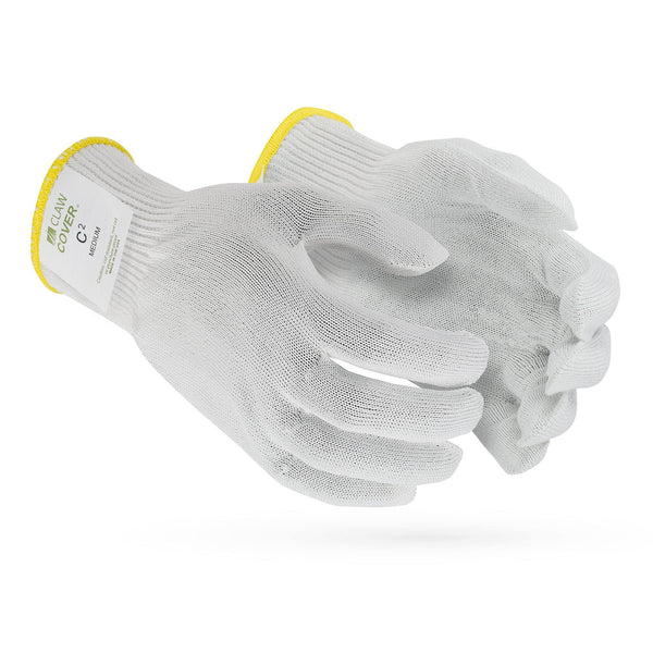 C2 Claw Cover-13 Gauge White ANSI Cut Level 5 Glove - Sizes XS-XL