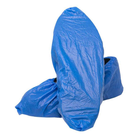 Disposable Shoe Cover, Blue, Elastic Top, 16