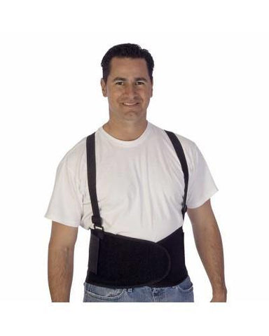 Detachable Suspenders Back Support Belt, Black, Sizes M-XXL