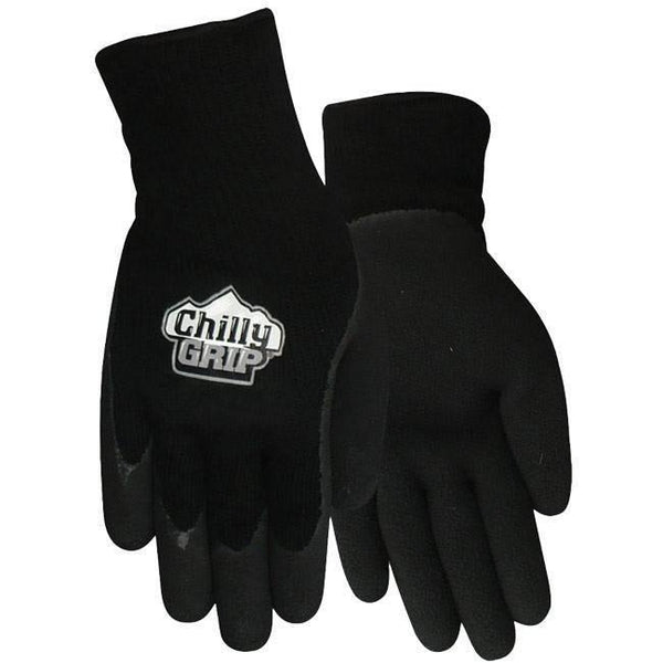 Red Steer A314, Chilly Grip Foam Latex Glove, Black, Sizes S-XL
