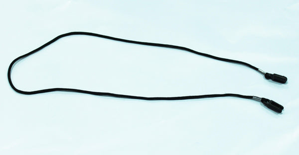 Black Safety Glass Cord, Round and Thin Loops