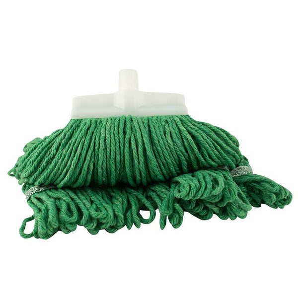 Green Mop Head, Looped Yarn