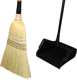 Corn Broom Starter Pack With Broom & 2 Wood Handles