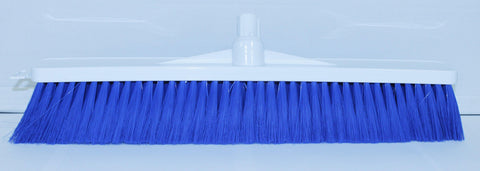 Soft Bristle Broom Blue