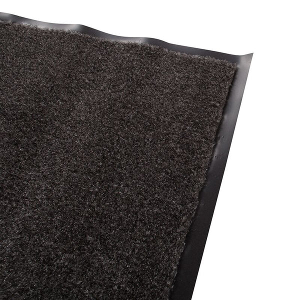 Olefin Indoor Carpet Charcoal Grey 2' x 3', Slip Resistant, Food Service Safety