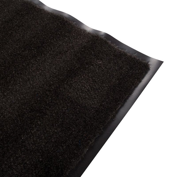 Olefin Indoor Carpet Smoke Black 2' x 3', Slip Resistant, Food Service Safety