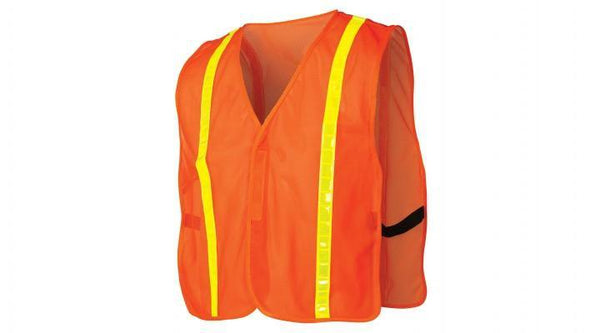 Hi-Viz Safety Orange Reflective Vest, 1
