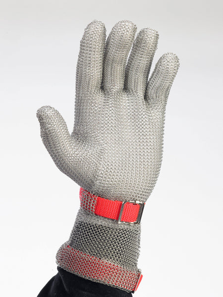 5 Finger Metal Mesh Glove w/ 3
