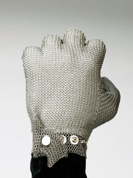 Steel Mesh Glove, Stainless Steel - Sizes XXS-XXL - Resistant to Knife Penetration - Food Service Safety