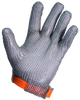 5 Finger Steel Mesh Glove w/Silicone Strap, 21 CFR Compliant, Sold By The Each