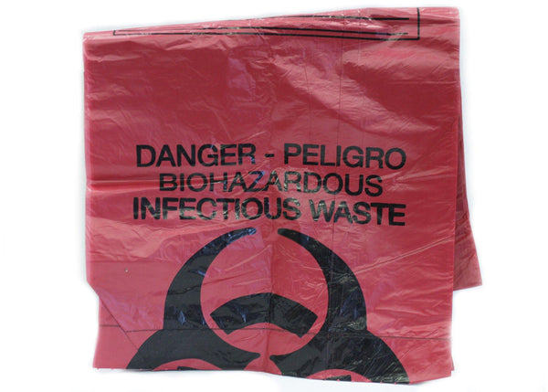 Biohazard Bags - Red - 2/Unit